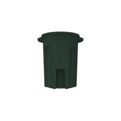 TOTRND44-B0960 - Toter - 44 Gal. Round Trash Can with Lift Handle - Forest Green