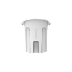 TOTRND55-B0111 - Toter - 55 Gal. Round Trash Can with Lift Handle - Bright White