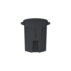 TOTRND55-B0149 - Toter - 55 Gal. Round Trash Can with Lift Handle - Dark Gray Granite