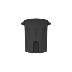 TOTRND55-B0200 - Toter - 55 Gal. Round Trash Can with Lift Handle - Black