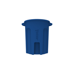 TOTRND55-B0705 - Toter - 55 Gal. Round Trash Can with Lift Handle - Blue