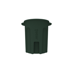 TOTRND55-B0960 - Toter - 55 Gal. Round Trash Can with Lift Handle - Forest Green