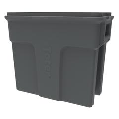 TOTSL016-00125 - Toter - 16 Gallon Slimline Rectangular Trash Can - Dark Cool Gray