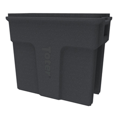 TOTSL016-00149 - Toter - 16 Gallon Slimline Rectangular Trash Can - Dark Gray Granite