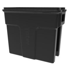 TOTSL016-00200 - Toter - 16 Gallon Slimline Rectangular Trash Can - Black