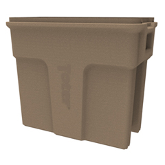 TOTSL016-00249 - Toter - 16 Gallon Slimline Rectangular Trash Can - Sandstone
