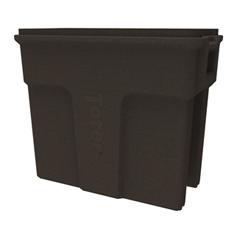 TOTSL016-00279 - Toter - 16 Gallon Slimline Rectangular Trash Can - Brownstone
