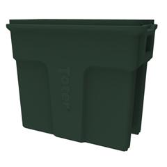 TOTSL016-00960 - Toter - 16 Gallon Slimline Rectangular Trash Can - Forest Green
