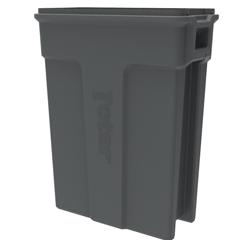 TOTSL023-00125 - Toter - 23 Gallon Slimline Rectangular Trash Can - Dark Cool Gray