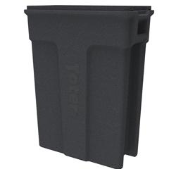 TOTSL023-00149 - Toter - 23 Gallon Slimline Rectangular Trash Can - Dark Gray Granite
