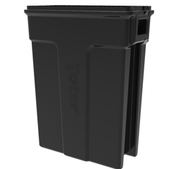 TOTSL023-00200 - Toter - 23 Gallon Slimline Rectangular Trash Can - Black
