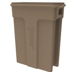 TOTSL023-00249 - Toter - 23 Gallon Slimline Rectangular Trash Can - Sandstone