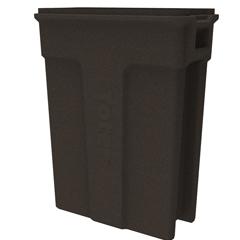 TOTSL023-00279 - Toter - 23 Gallon Slimline Rectangular Trash Can - Brownstone