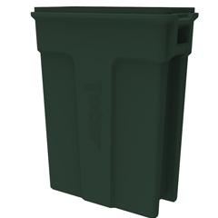 TOTSL023-00960 - Toter - 23 Gallon Slimline Rectangular Trash Can - Forest Green