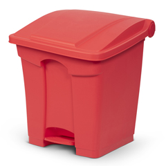 TOTSOF08-00RED - Toter - 8G/ 30.3 L Step on Container Fire Retardant - Red
