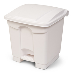 TOTSOF08-00WHI - Toter - 8G/ 30.3 L Step on Container Fire Retardant - White