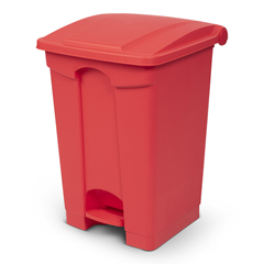 TOTSOF12-00RED - Toter - 12G/45.4L Step on Container Fire Retardant - Red
