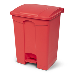 TOTSOF18-00RED - Toter - 18G/68.1L Step on Container Fire Retardant - Red