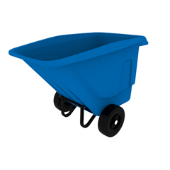 TOTUTP05-00BLU - Toter - 1/2 Cubic Yard 825 lbs. Capacity Standard Duty Pneumatic Wheel Tilt Truck - Blue