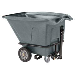 TOTUTT05-00IGY - Toter - 1/2 Cubic Yard 1200 lbs. Capacity Heavy Duty Towable Tilt Truck - Industrial Gray