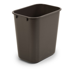 TOTWBF03-00BRW - Toter - 14 QT Fire Resistant Trash Can - Brown