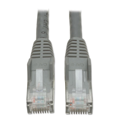 TRPN201010GY - Tripp Lite CAT6 Snagless Molded Patch Cable