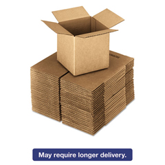 UFS181818 - United Facility Supply Brown Corrugated - Cubed Fixed-Depth Shipping Boxes
