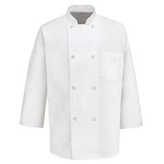 UNF0402WH-RG-XXL - Chef DesignsMens 3/4 Sleeve Chef Coat