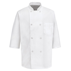 UNF0404WH-SS-4XL - Chef DesignsMens 1/2 Sleeve Chef Coat