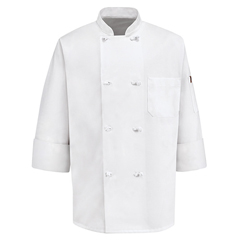 UNF0414WH-RG-XL - Chef DesignsMens 8 Knot Button Chef Coat
