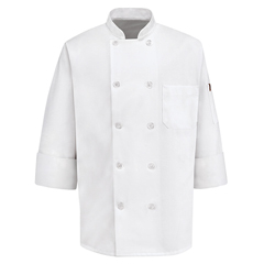 UNF0415WH-RG-XL - Chef DesignsMens 10 Pearl Button Chef Coat