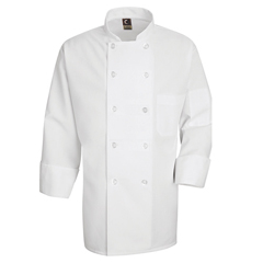UNF0423WH-RG-XL - Chef DesignsMens 10 Pearl Button Chef Coat