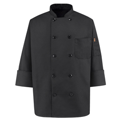 UNF0425BK-RG-M - Chef DesignsMens Spun Poly Chef Coat