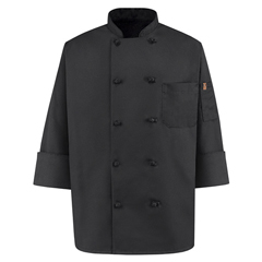 UNF0427BK-RG-M - Chef DesignsMens Spun Poly Chef Coat