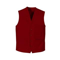 UNF1360RD-RG-L - Chef DesignsUnisex 4-Button Front Vest
