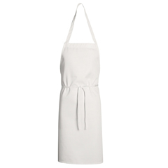 UNF1430WH-30-33 - Chef DesignsUnisex Mid Length Bib Apron