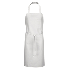UNF1751WH-30-33 - Chef DesignsBib Apron with Pencil Pocket
