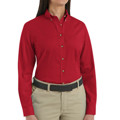 UNF1T11RD-RG-S - Red KapWomens Meridian Performance Twill Shirt
