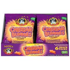 BFG22245 - Annie's HomegrownAnnies  Cheddar Bunnies Snack Packs