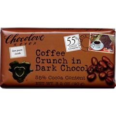 BFG24420 - ChocoloveCoffee  Crunch Dark Chocolate Bar