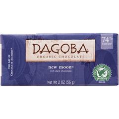 BFG25046 - DagobaOrganic New Moon™ Bittersweet Dark Chocolate Bar (74% Cacao)