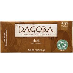 BFG25052 - DagobaOrganic Semisweet Dark Chocolate Bar (59% Cacao)