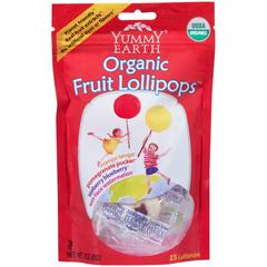 BFG26707 - Yummy EarthOrganic Fruit Lollipops Pouch