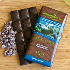 BFG30512 - Endangered SpeciesSea Turtle Bar All-Natural Dark Chocolate with Blueberries