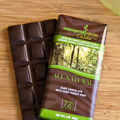 BFG30520 - Endangered SpeciesRain Forest Bar All-Natural Dark Chocolate with Mint