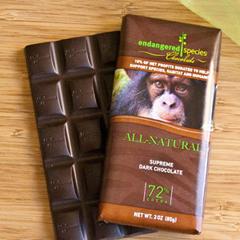 BFG30530 - Endangered SpeciesChimpanzee Bar All-Natural Supreme Dark Chocolate