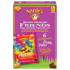 BFG32966 - Annie's HomegrownAnnies  Bunny Grahams Friends Snack Packs