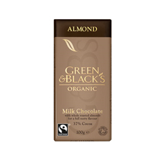 BFG33306 - Green & Black'sMilk Chocolate with Almonds