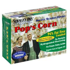 BFG35147 - Newman's Own OrganicsMicrowave Popcorn Plain Unsalted