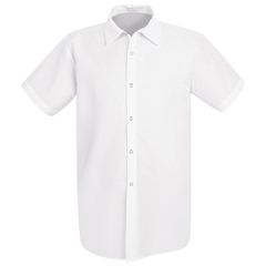 UNF5050WH-SS-XL - Chef DesignsMens Spun Poly Long Cook Shirt